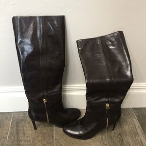 Nine West nwvin tage brown leather boots size 6M